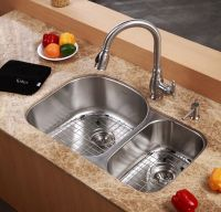 """32"""" Undermount 70/30 Double Bowl 16 gauge Stainless Steel ..."""