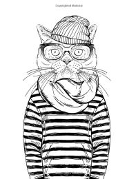 Cool Cats Colouring Book: Elizabeth James | Adult ...
