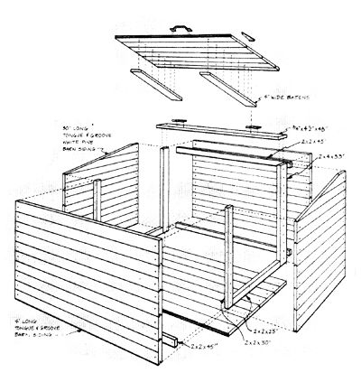 Farm Tools and Devices: Homemade Livestock Feed Bin, Truss