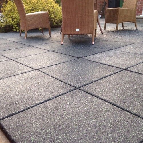 PIN 5 Patio Tiles made from Rubber these would be very child friendly  Synthetics  Pinterest
