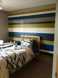 Striped walls - teenage boy bedroom? | Home decor ...