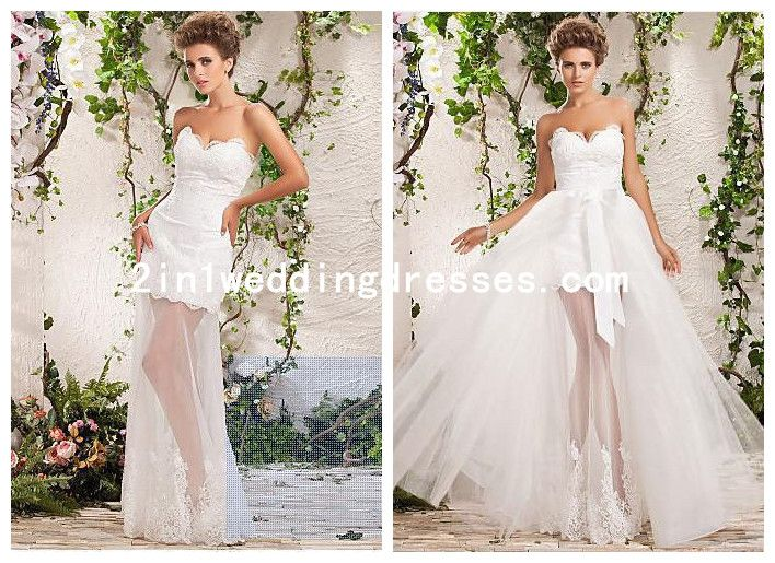 11 Best Images About Detachable Train Wedding Dresses On