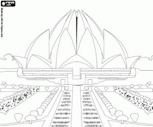Lotus Temple, Bahá'í House of Worship in Delhi, India