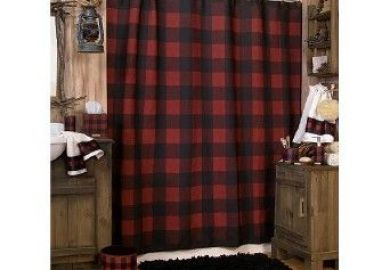 Black And Red Shower Curtains Elhouz