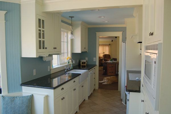 Kitchen Blue Walls White Cabinets Nagpurentrepreneurs