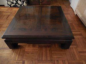 THOMASVILLE  Vintage Teak and Burl Wood Asian Style Coffee Table c1970  furniture  Pinterest