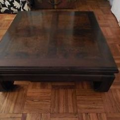 Living Room Furniture Table Design Ideas Small Apartment Thomasville - Vintage Teak And Burl Wood Asian Style ...