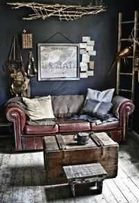 Couch for a manly office | House ideas | Pinterest ...