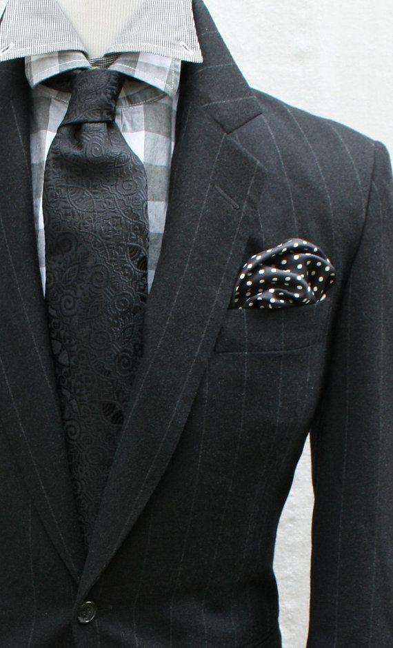 Mens Vintage Black 2 Piece Wide Pinstripe Suit by ViVifyVintage  ViVify Vintage  Pinterest