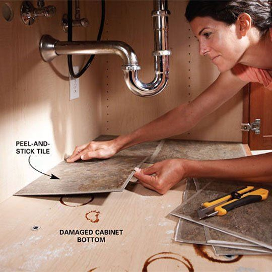 Use peel and stick tile to