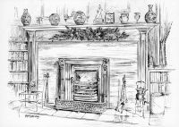 victorian christmas fireplace drawing - Google Search ...