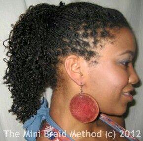Mini Braids On Natural Hair Mini Braids Braiding Your