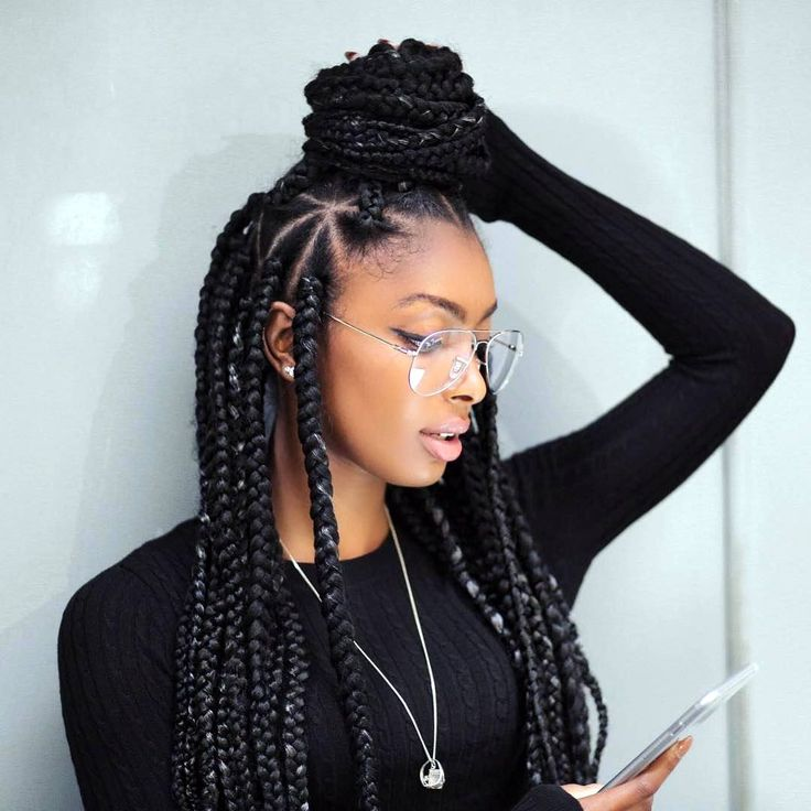 25 Best Ideas About Hairstyles For Box Braids On Pinterest