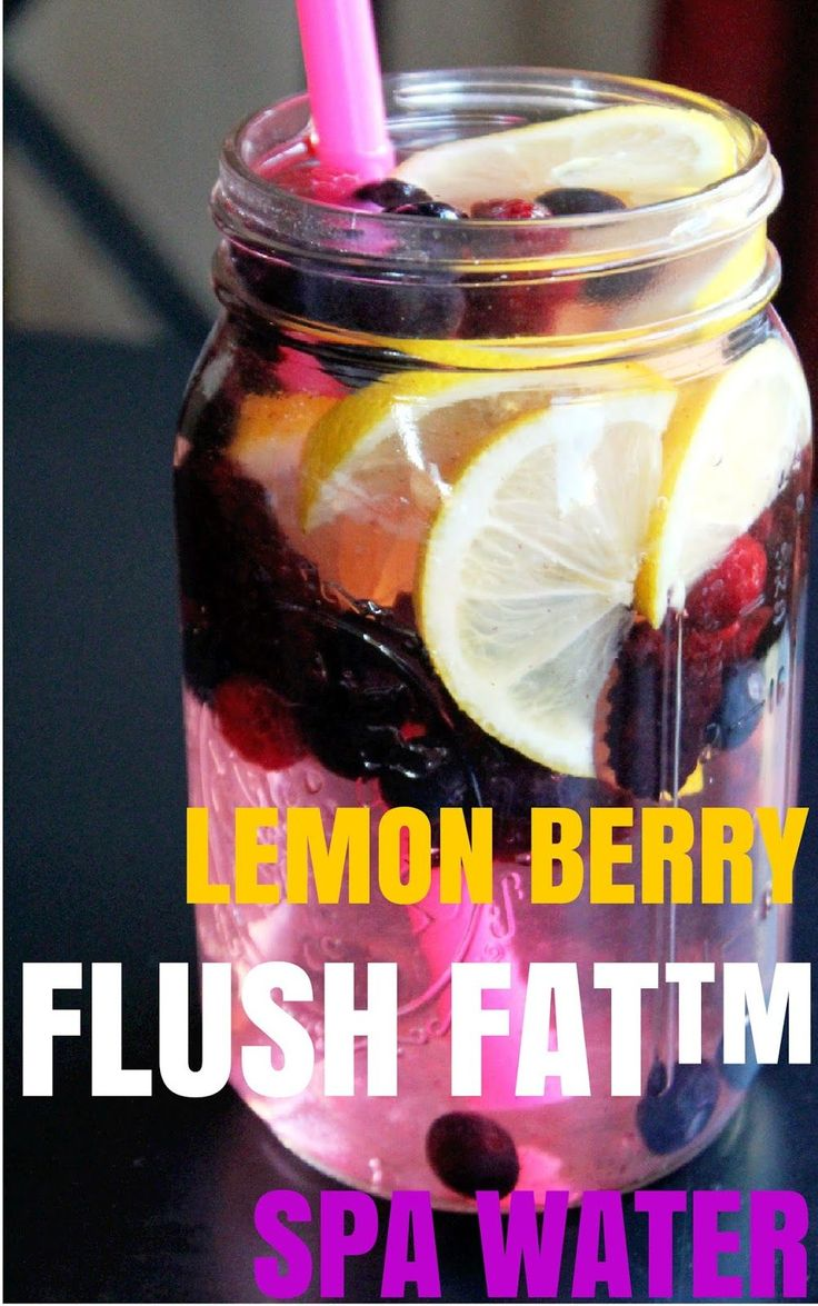 Lemon Berry Flush Fat™ Spa Water…sounds good whether you use it for a flush or just to liven up plain boring water, which I dont