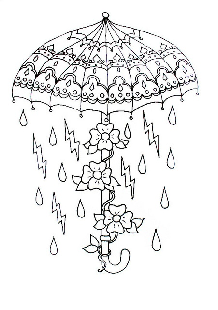 made by me. need colour: hand; gun; umbrella; owl