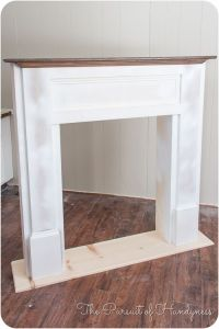 Faux Fireplace Mantel Diy - WoodWorking Projects & Plans