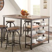 Kitchen : Counter Height Kitchen Tables with Storage
