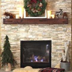 Living Room Ideas With Fireplace Orange Accent Chairs I Could Do This. Similar And Mantel | Christmas ...