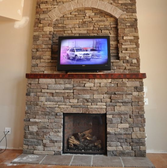 Rock Fireplace Mantel Bitter Root Mountain Ledge- Eldorado Stone Stone On House