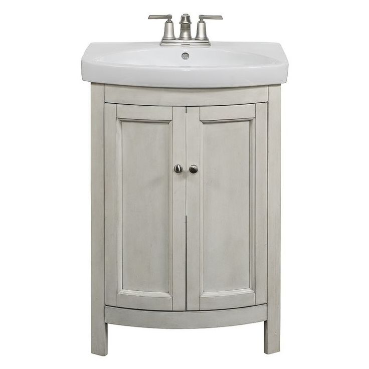 Allen Roth Moravia Antique White Integral Bathroom