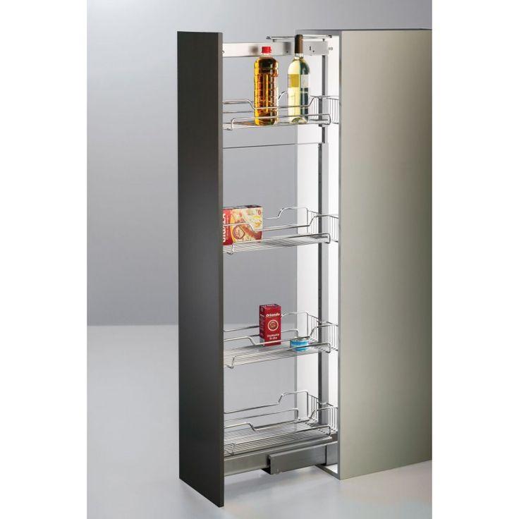 Columna despensero extrable con freno para armarios de cocina  Aprovecha hasta el ltimo centmetro de tu armario de cocina con nuestra