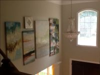 Two story foyer; large painting gallery wall | Foyer ...