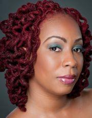 red curly locs de lux