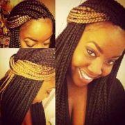 black and blonde box braids