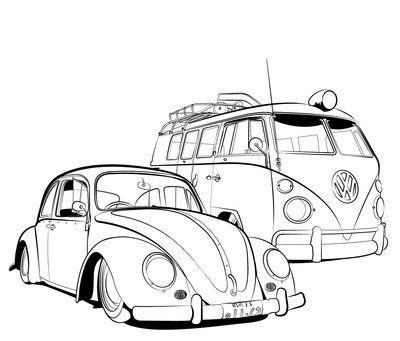 Vector Volkswagen Linework by Jase-nye2212.deviantart.com