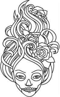 307 best images about Skull Day of the dead coloring! on