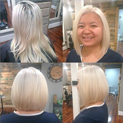30 Stylish And Sassy Bobs For Round Faces Bobs Blonde