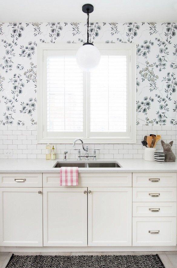 The 25 best ideas about Kitchen Wallpaper on Pinterest