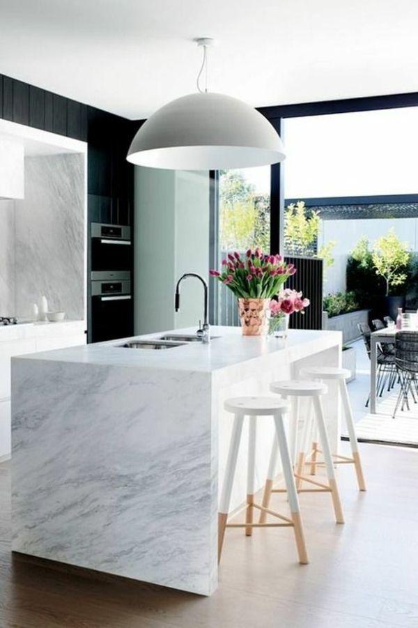 marmor kuche mit beton wand minimalistisch design – topby, Kuchen