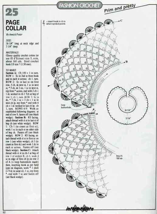 17 Best ideas about Crochet Collar Pattern on Pinterest