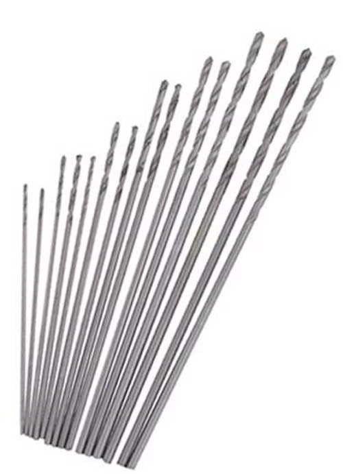Mini Drill 15Pc Set High Speed Steel Twist Drills Bits