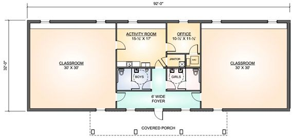 Child Day Care Centers Floor Plans