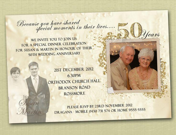 50th Wedding Anniversary Invitations Examples