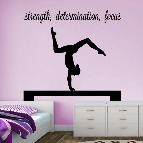 """Gymnast Handstand on Beam """"strength, determination, focus"""