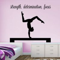 "Gymnast Handstand on Beam ""strength, determination, focus"