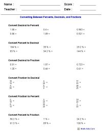 Converting Decimals To Fractions Worksheets 7th Grade ...