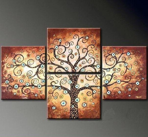 pintado  mo pintura abstrata moderna de 4 peas a leo