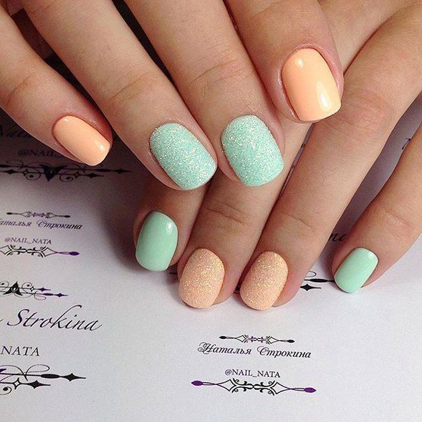 Best 20+ Two Color Nails ideas on Pinterest