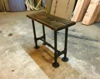 End Table, Pipe Industrial Side Table, Reclaimed Upcycled ...