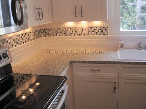 Subway Tiles Kitchen Backsplash Beveled Subway Tile