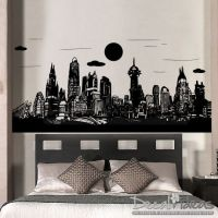 Gotham City Batman - City Skyline - Buildings - Vinyl Wall ...
