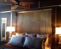 rustic headboard with wood and corrugated tin inlay | Did ...