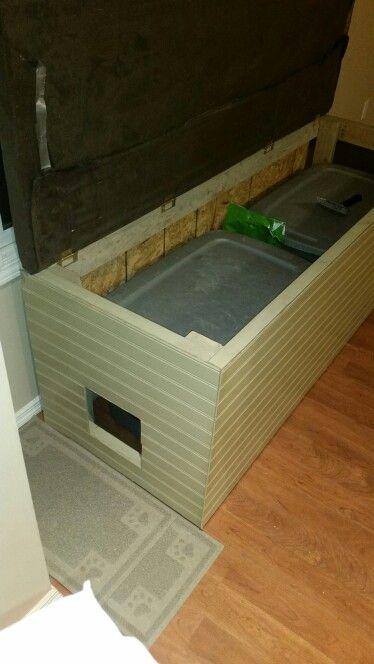 Bench Litter Box Enclosure Cool Cat Stuff Pinterest