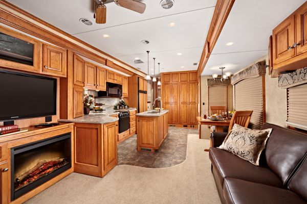 Luxury Living on Wheels 6 Stunning RVs that will Make You Drool  Fireplaces Campers and Luxury rv