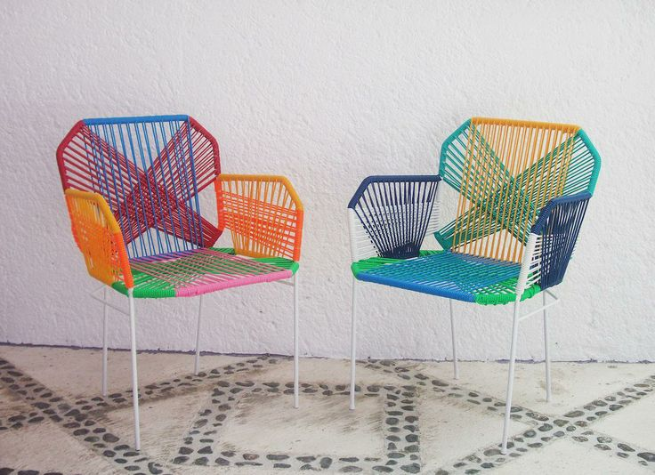 Mexican Vinyl Cord Chairs  Sunroom  Pinterest  Vinyls