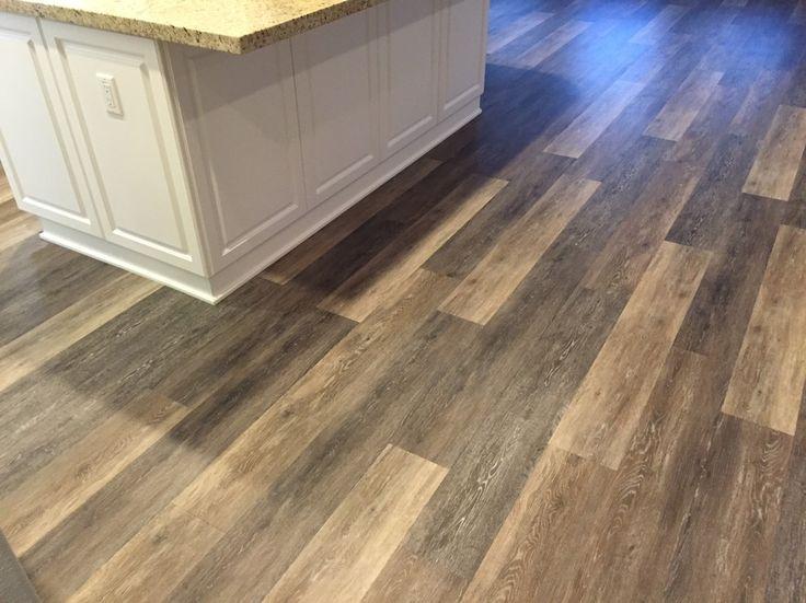 Kitchen floor inspiration COREtec Plus 7  Alabaster Oak